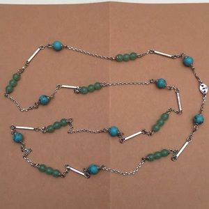 Fossil Turquoise Long Necklace